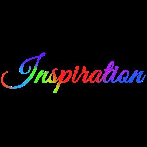 Inspiration Regenbogen Schriftzug