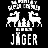 Jäger T-Shirt Geschenk für Jäger Kostüm Fun Shirt