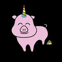 Süßes Einhorn Schwein Sau Ferkel Oink Geschenk