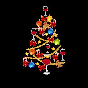 Wein Weihnachtsbaum Alkohol Weihnachten Geschenk