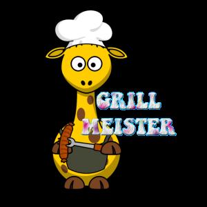 grillmeister giraffe koch meister geschenk süß