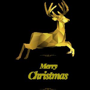 Polygone Hirsch Gold Weihnachten