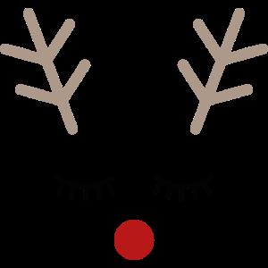 Rudolph Rentier Gesicht Geschenk Idee