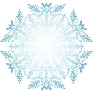 Schneeflocke weissblau