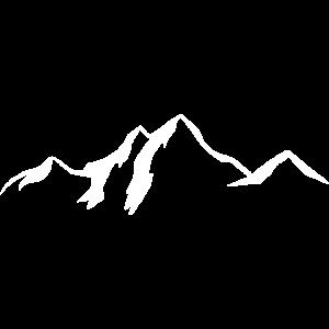 Bergkulisse / Mountains white
