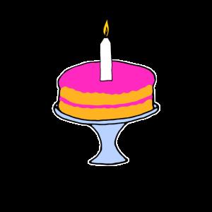Torte mit Kerze Geburtstag