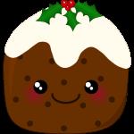 Nette Kawaii Christmas Pudding