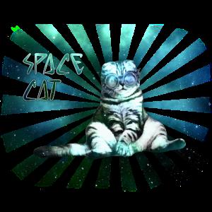 Coole Katze Weltraum Space Cat Geschenk