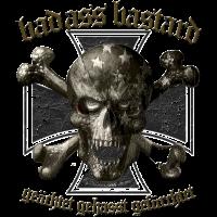 badass Skull iron cross Shirtmatic