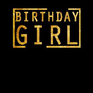 Geburtstags-Mädchen-Goldfunkeln
