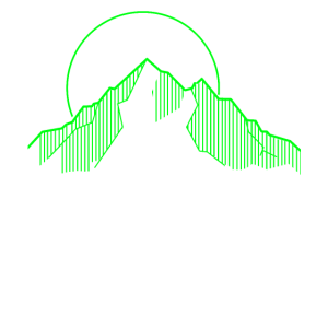 Retro Neon Berg mit Linien