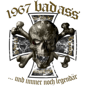 1967 Geburtstag Skull Badass