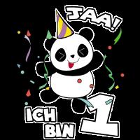 1. Geburtstag Panda Geschenk Süßer Pandabär Party