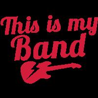 Das ist meine Band mit E-Gitarre