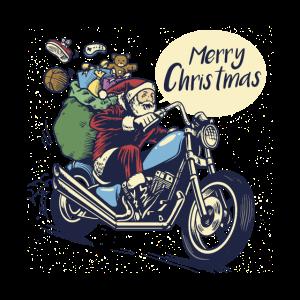 Nikolaus Motorrad Merry Christmass