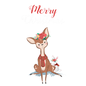 Merry Christmas Deer Rabbit