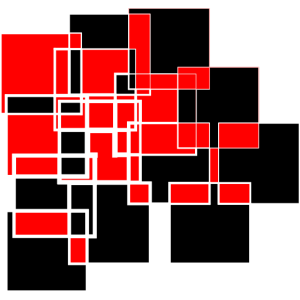 Rot Schwarzes Abstraktes Design