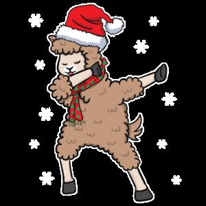 Alpaka Lama Lustig Dabbing Weihnachten Geschenk