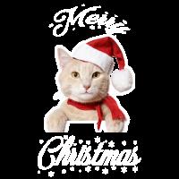 Katze Weihnachten X-MAS