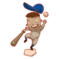 Baseball Kinder Kindermotiv Geschenk Sohn