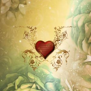 Wundervolles dekoratives Herz