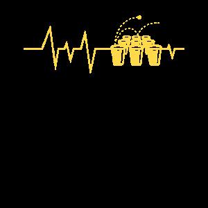 Heartbeat Bierpong Trinkspiel Alkohol Geschenk
