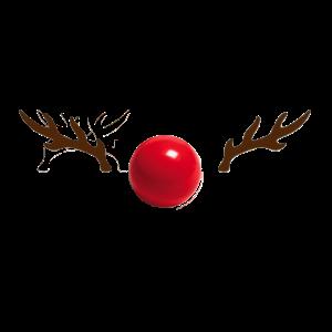 Press the Red Nose Rudolf Weihnachten Rote Nase