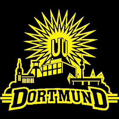 Dortmund, einfarbig - Sie haben die Wahl: Das Dortmund-Shirt gibt's in ein-, zwei- und dreifarbiger Ausfertigung. Nur eines von Hunderten exklusiver Designs von www.spassprediger.de.  - dortmund shirt,dortmund U,dortmund,Westfalenstadion,T Shirt,Städteshirt,Signal Iduna Park,Shirt,Dortmund-T-Shirt