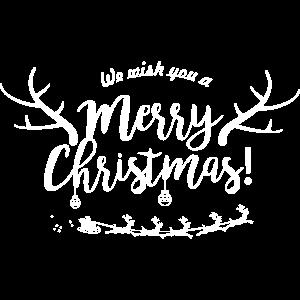 frohe Weihnachten Familie Rentier Weihnachtsmann