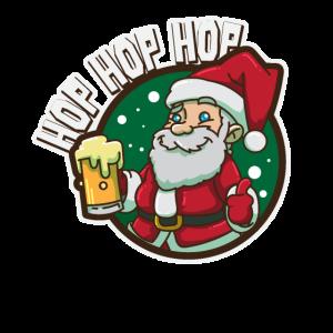 Lustiger Weihnachtsmann mit Bierkrug Geschenk
