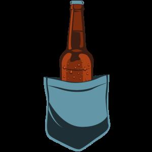Trinkflasche Flasche Bier Glasflasche Brusttasche