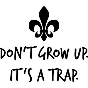 Don't grow up… Handschrift Lilie - Farbe wählbar