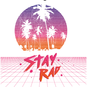 Retro Synthwave - Stay Rad Outrun Synth Nerd