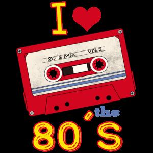 80er Jahre Musik Kassette Geschenk