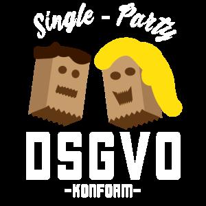Single Party DSGVO konform weiß