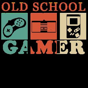 Old School Gamer Retro Vintage Zocker Geschenk