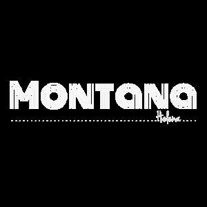 Montana helle Schrift