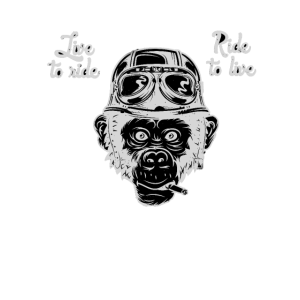 Biker Monkey Born to Ride / Ride to Live Shirt Te