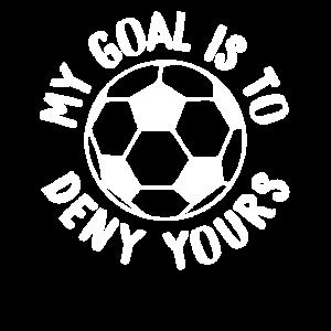 Mein Ziel ist es, Ihren Fußballtorwart und Verteidiger zu verweigern
