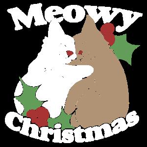 Meowy Weihnachtshemd