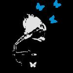 grammophones__butterflies_shirt