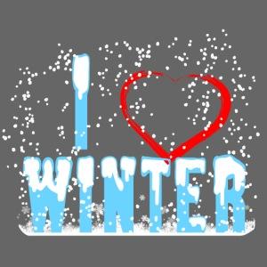I love Winter Herz Schnee