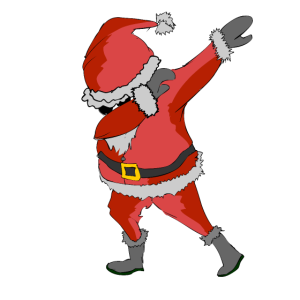 Dabbing Santa Weihnachtsmann Weihnachtsmotiv