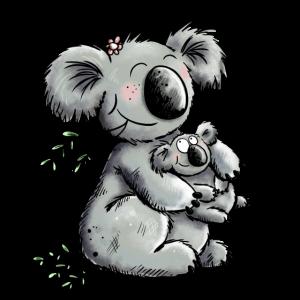 Süße Mama Koala Mit Baby Schwangerschaft Geschenk