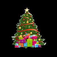 Weinachtsbaum und Geschenke