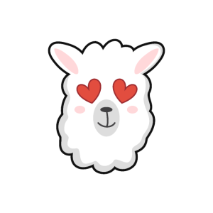 Verliebtes Alpaka