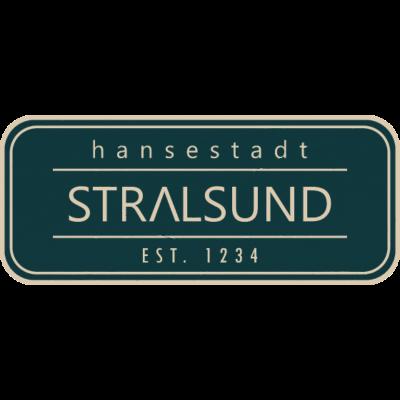 Stralsund EST. 1234 - Used Look - Hansestadt Stralsund im Retro-Stil. Ein tolles Geschenk für Stralsundfreunde. - urlaub,stralibu,retro,Vintage,Stralsund,Hansestadt