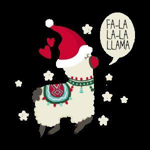Lama Geschenk Weihnachten Tier