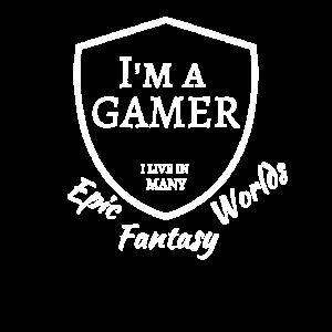 Gamer Fantasy World Epic Zocker Nerd Geschenk