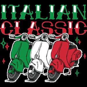 Italian Classic   Moped Italien Flagge Roller